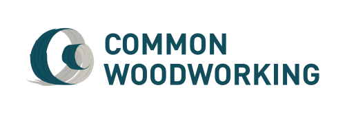 Common Woodworking - Wide logo - Teal - Transparent - RGB